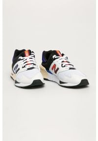 Białe sneakersy New Balance na sznurówki, z cholewką, z okrągłym noskiem #5