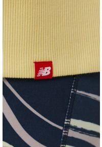 New Balance - Bluza. Kolor: żółty. Długość rękawa: raglanowy rękaw
