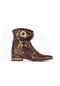 Botki Zapato w kolorowe wzory, klasyczne, z cholewką
