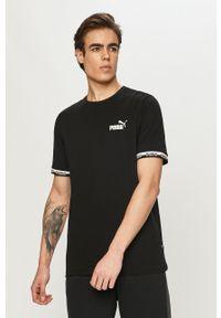 Czarny t-shirt Puma na co dzień, casualowy, gładki