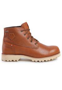 Brązowe buty trekkingowe Dachstein z cholewką, Gore-Tex