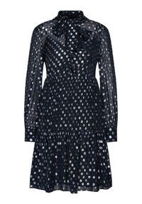 Luisa Spagnoli Sukienka codzienna Gery 537510 Granatowy Regular Fit. Okazja: na co dzień. Kolor: niebieski. Typ sukienki: proste. Styl: casual