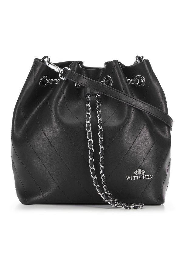 Czarna torebka worek Wittchen mała, matowa