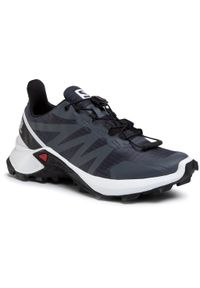 Czarne buty do biegania salomon z cholewką, na co dzień