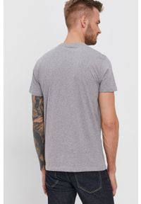 Pepe Jeans - T-shirt bawełniany Wells. Kolor: szary. Materiał: bawełna. Wzór: nadruk