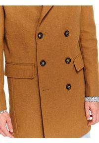 TOP SECRET - Klasyczny płaszcz dwurzędowy z wełnianej tkaniny. Materiał: tkanina, wełna. Sezon: zima. Styl: klasyczny #8