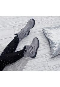 Szare botki Zapato bez zapięcia, wąskie