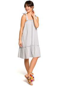 Szara sukienka dzianinowa MOE na lato