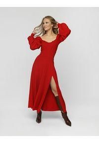 Madnezz - Sukienka Cubana Winter - wino. Materiał: wiskoza, elastan. Sezon: jesień, lato, zima. Typ sukienki: w kształcie A