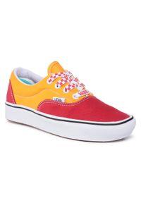 Vans - Tenisówki VANS - Comfycush Era VN0A3WM9WWJ1 (Lace Mix)Red/Cadmium Ylw. Okazja: na co dzień. Kolor: pomarańczowy. Materiał: materiał. Szerokość cholewki: normalna. Styl: casual. Model: Vans Era