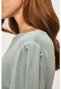 Miętowy sweter ANSWEAR casualowy, z okrągłym kołnierzem, na co dzień