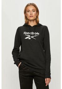 Czarna bluza Reebok Classic z długim rękawem, długa