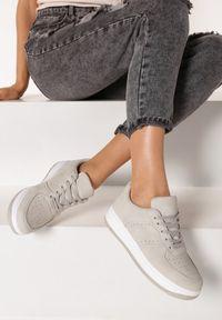 Born2be - Szare Sneakersy Anatune. Kolor: szary