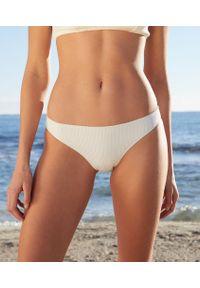 Elyna Majtki Bikini Od Kostiumu Kąpielowego - Biały - Etam. Kolor: biały. Materiał: prążkowany, materiał, tkanina