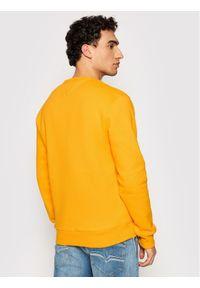 Tommy Jeans Bluza Tjm Ombre Logo DM0DM10202 Żółty Regular Fit. Kolor: żółty