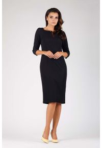 Czarna sukienka wizytowa Nommo elegancka