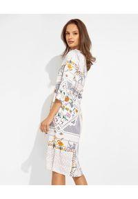 HERZEN'S ANGELENGEHEIT - Wzorzysta sukienka mini. Kolor: biały. Materiał: jedwab, materiał. Wzór: kolorowy. Długość: mini