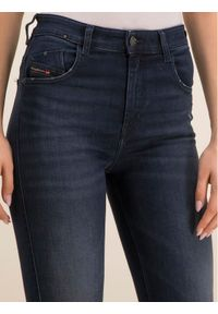 Diesel Jeansy Slandy 00SML 0870C Granatowy Slim Fit. Kolor: niebieski. Materiał: jeans