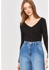 Czarny sweter Answear Lab z długim rękawem, długi