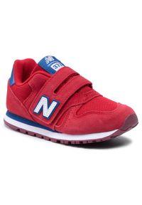 New Balance Sneakersy YV373SRW Czerwony. Kolor: czerwony. Model: New Balance 373