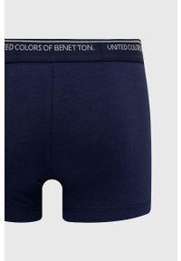 United Colors of Benetton - Bokserki. Kolor: niebieski. Materiał: bawełna. Długość: długie