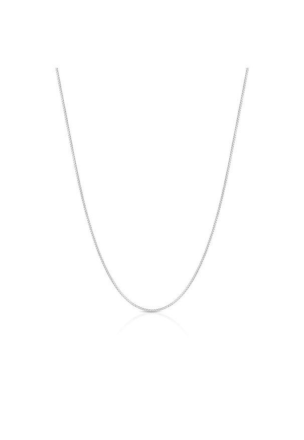 W.KRUK Wyjątkowy Srebrny Łańcuszek - srebro 925 - WWK/L051/45R. Materiał: srebrne. Kolor: srebrny. Wzór: ze splotem, aplikacja