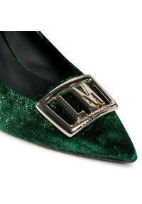 Zielone półbuty Love Moschino na średnim obcasie, na szpilce