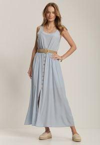 Renee - Jasnoniebieska Sukienka Loraeshell. Kolor: niebieski. Długość rękawa: na ramiączkach. Długość: maxi