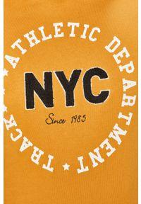 Pomarańczowa bluza nierozpinana PRODUKT by Jack & Jones na co dzień, casualowa, z aplikacjami