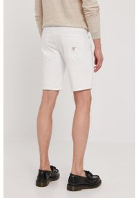 Białe szorty Guess casualowe, gładkie, na co dzień