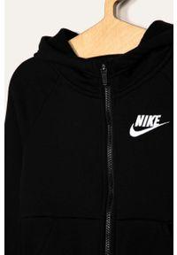 Czarna bluza rozpinana Nike Kids casualowa, raglanowy rękaw