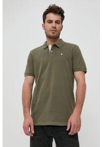 Tom Tailor - Polo bawełniane. Okazja: na co dzień. Typ kołnierza: polo. Kolor: zielony. Materiał: bawełna. Długość: krótkie. Wzór: gładki. Styl: casual