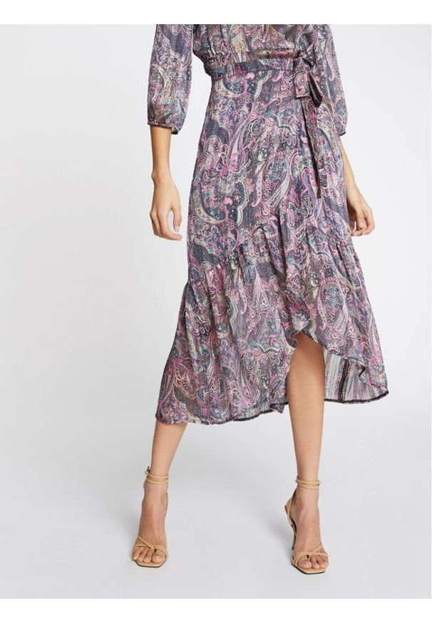 Morgan Spódnica plisowana 211-JIRIL Fioletowy Regular Fit. Kolor: fioletowy