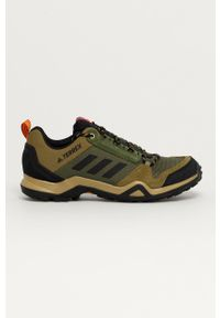 adidas Performance - Buty Terrex AX3. Nosek buta: okrągły. Zapięcie: sznurówki. Kolor: zielony. Materiał: guma. Model: Adidas Terrex