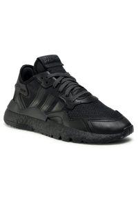 Adidas - Buty adidas - Nite Jogger FV1277 Cblack/Cblack/Cblack. Okazja: na co dzień. Zapięcie: sznurówki. Kolor: czarny. Materiał: materiał, skóra. Szerokość cholewki: normalna. Wzór: jednolity. Styl: klasyczny