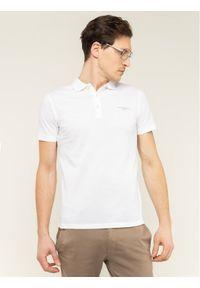 Baldessarini Polo Pablo Nos 47405/000/5361 Biały Slim Fit. Typ kołnierza: polo. Kolor: biały