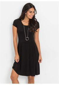 Sukienka z dżerseju bonprix czarny. Kolor: czarny. Materiał: jersey. Sezon: lato