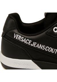 Czarne półbuty Versace Jeans Couture na co dzień, eleganckie, z cholewką