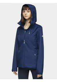 Niebieska kurtka przeciwdeszczowa 4f ze stójką, na co dzień, casualowa
