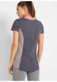 Shirt sportowy, krótki rękaw bonprix nocny niebieski - różowy neonowy. Kolor: szary. Długość rękawa: krótki rękaw. Długość: krótkie. Styl: sportowy #6