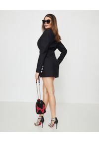 ALEXANDRE VAUTHIER - Czarna sukienka mini. Kolor: czarny. Materiał: wiskoza, satyna, materiał. Typ sukienki: dopasowane. Styl: wizytowy, klasyczny, elegancki. Długość: mini