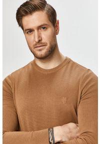 Sweter Marc O'Polo długi, z długim rękawem, polo, na co dzień