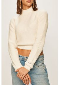 Biały sweter Pepe Jeans casualowy, na co dzień