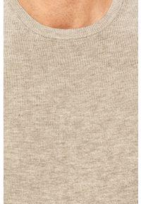 Szary sweter Tailored & Originals z okrągłym kołnierzem