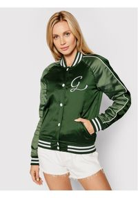 Guess Kurtka bomber Tiffany W1YL83 WD1R2 Zielony Slim Fit. Kolor: zielony