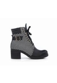 Czarne botki Zapato na obcasie, wąskie