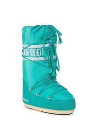 Zielone śniegowce Moon Boot