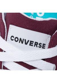 Czerwone półbuty Converse na co dzień, z cholewką, casualowe