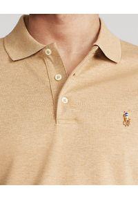 Brązowe polo z krótkim rękawem Ralph Lauren polo, w kolorowe wzory