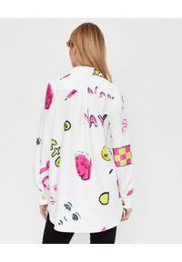 ALICE MCCALL - Biała koszula we wzory. Kolor: biały. Materiał: jeans, materiał. Długość rękawa: długi rękaw. Długość: długie. Wzór: nadruk, aplikacja